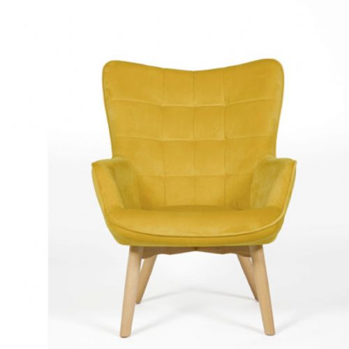 Home Essential AED 123 Plush Mustard  Accent Chair (1)